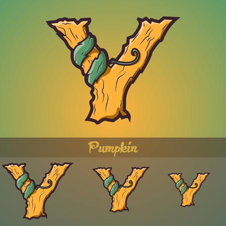 Halloween decorative alphabet - Tree   roots
