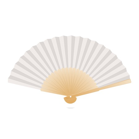 Japanese folding fan isolated on white background  Vector illustration Vector