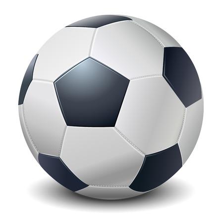 Detailed dark blue fringe football ball isolated on white background  Vector illustration Vector