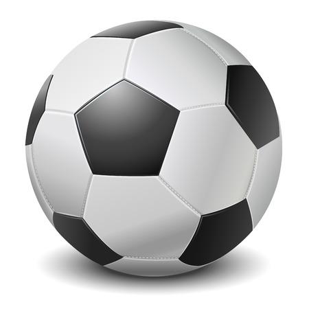 Detailed black fringe football ball isolated on white background  Vector illustration Illustration