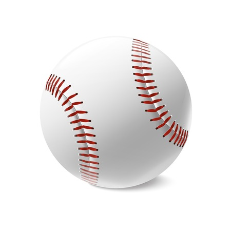 Baseball ball isolated on white background  Vector illustration