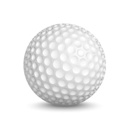 Golf ball isolated on white background  Vector illustration Vector