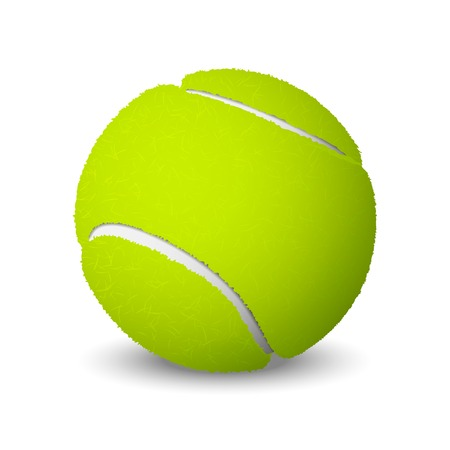 Tennis ball isolated on white background  Vector illustration Vector