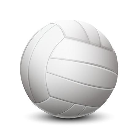 pelota de voley: Balón de voleibol de color blanco sobre fondo blanco Ilustración vectorial