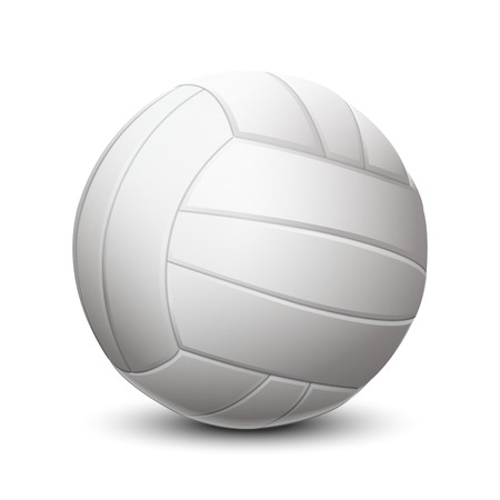 White volleyball ball isolated on white background  Vector illustration Illustration