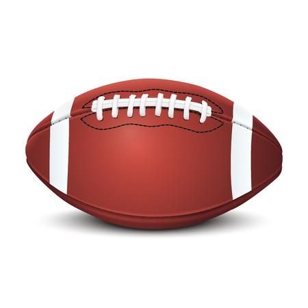 リアル アメリカン フットボール ボールの白い背景ベクトル イラスト上に分離されて