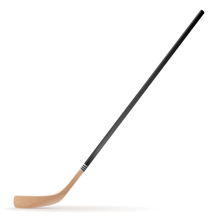 Ice hockey stick isolated on white background  Vector illustration Illustration