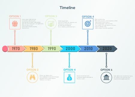 Retro timeline infographic Ilustração