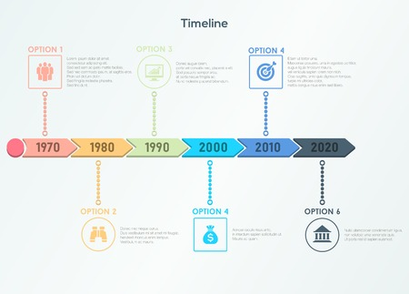 Retro timeline infographic Illustration