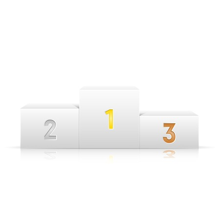 Winners podium isolated on a white background Illustration