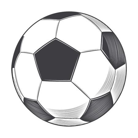 Football ball isolated on white background. Illustration