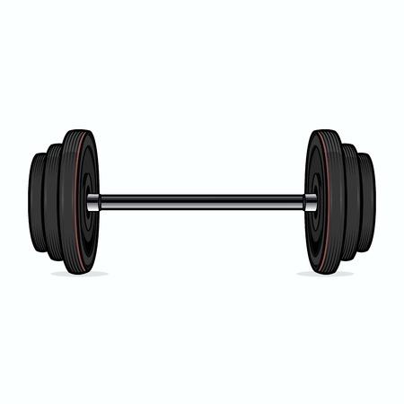 Dumbbell isolated on white background  Color line art  Fitness symbol  Vector illustration Illustration