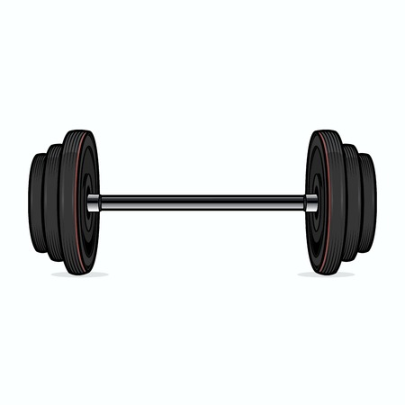 Dumbbell isolated on white background  Color line art  Fitness symbol  Vector illustration Illustration