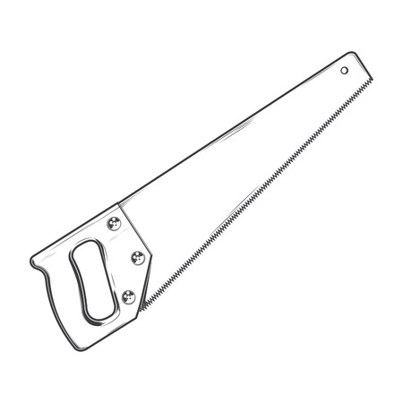 Handsaw isolated on a white background.