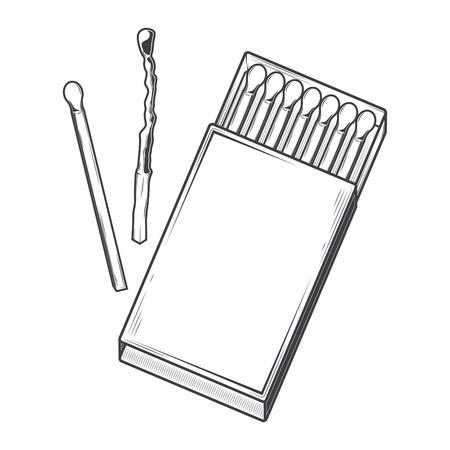caja de cerillas: Vista superior caja de cerillas aislado en un fondo blanco Vectores