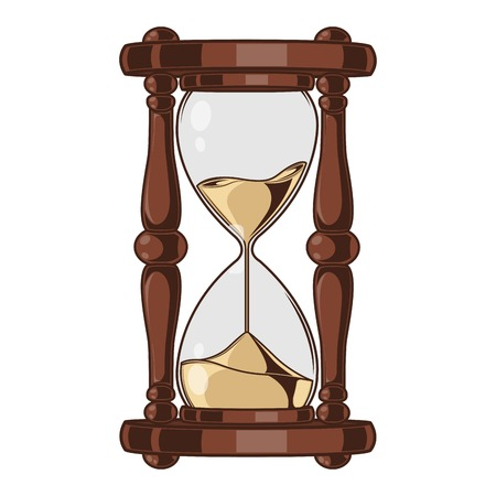 Antique Sand Hourglass isolated on a white background