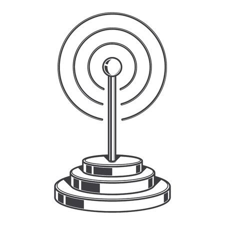 wireless network: Se�al de red inal�mbrica aislado en un fondo blanco Vectores