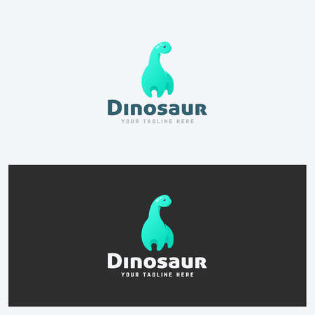 Dinosaur Logo Design Template. Corporate Business Theme. Kid Stuff Concept. Simple and Clean Style. Vector.