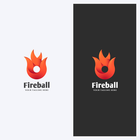 Abstract Fire, Flame Shape Logo Design Template. Corporate Business Theme. Energy, Power Concept. Simple and Clean Style.