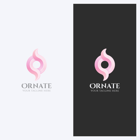Abstract Ornament, Swirl Shape Logo Design Template. Corporate Elegant Business Theme. Cosmetics, Wedding Concept. Simple and Clean Style. Illustration