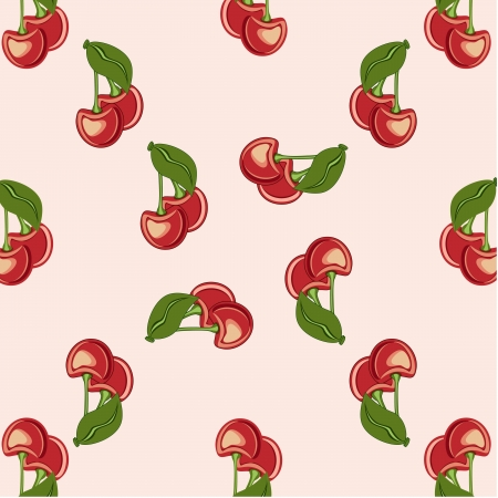 background, cherry, red berry,green leaves, fruits