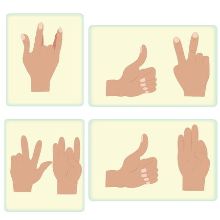 exercises with the hands to improve the condition of the body Illustration