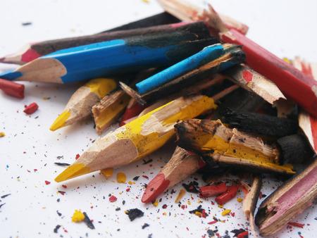 pathetic: Charred, blackened, broken remnants of children s crayons
