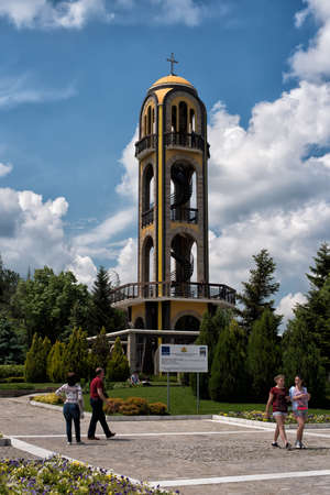 view of an atrium in a building: May, 08, 2016 Haskovo, Bulgaria : The Bell Tower in Haskovo,Bulgaria