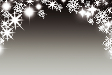 sparkly: Christmas background with luminous garland with stars snowflakes and place for text. Sparkly holiday background with copy space. Black and gold background