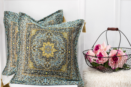 Colorful oriental arabic pillow