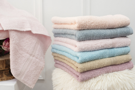 Clean soft colorful towels