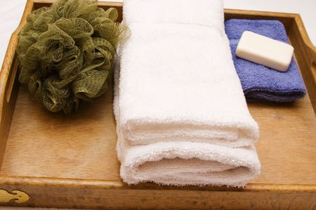 Spa supplies white towel time to relax!!!