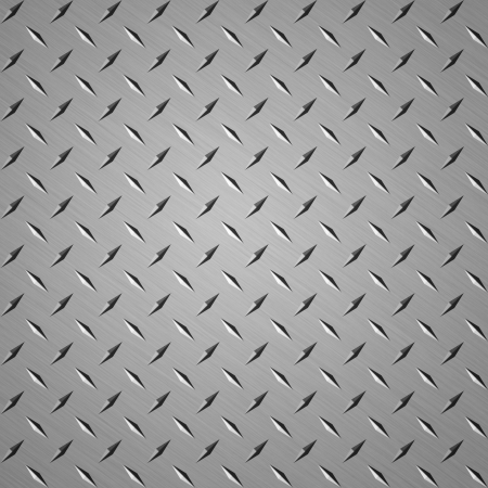 shiny metal background: Diamond plate steel background good for webpage Stock Photo