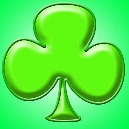 Green shamrock clip art background or frame Stock Photo - 708872
