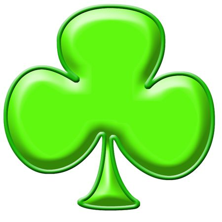 paddys: Green shamrock clip art background or frame Stock Photo