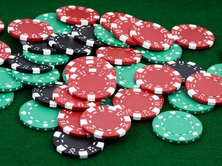 payout: mont�n de fichas de apuestas a ganador de pago verde sent�a