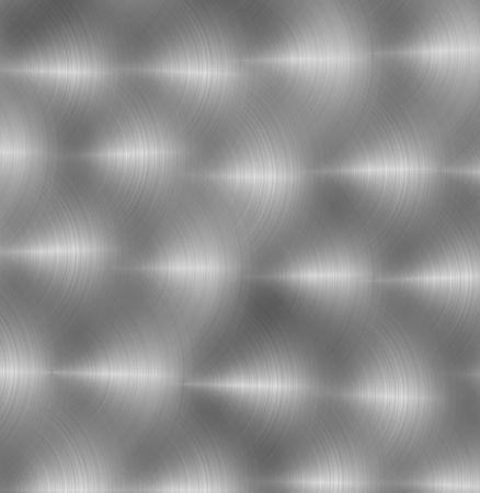 detailed hand polished aluminum plate circular swirls good background Stock Photo - 752323