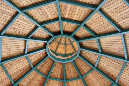 abstract ceiling looking up from a gazebo Stock Photo