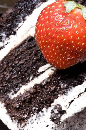 chocolaty: can you resist and only eat the strawberry? Or are you weak and eat the chocolate cake?