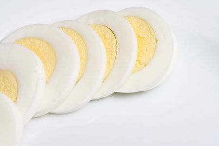 hard: hard boiled eggs sliced ready to top a great salad