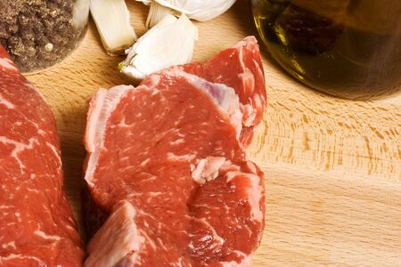 tonight: close up of getting ready for the bbq grill steak grilling tonight Stock Photo