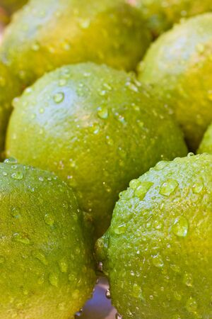 a bunch of limes shot close up photo