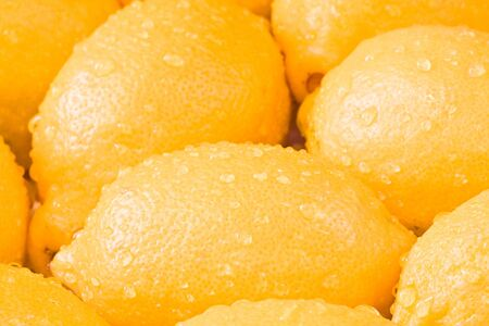 a bunch of lemons shot close up photo