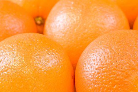 bunch of fresh oranges shot close up photo