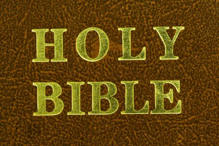 close up of a cover of the holy bible  Stock Photo