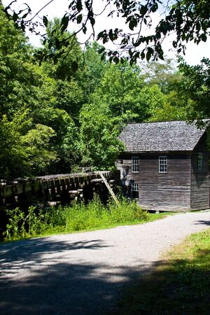 gristmill: a grist mill in the smoky mountains national park