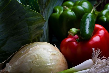 a ton of fresh vegetables from the farmers market