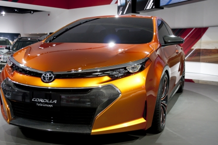 DETROIT - JANUARY 27 :The new Toyota Corolla Furia Concept at The North American International Auto Show January 27, 2013 in Detroit, Michigan.