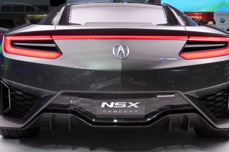 acura: DETROIT - JANUARY 27 :The Acura NSX Concept at The North American International Auto Show January 27, 2013 in Detroit, Michigan.  Editorial