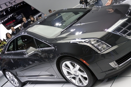 DETROIT - JANUARY 27 :The new 2014 Cadillac ELR electric hybrid at The North American International Auto Show January 27, 2013 in Detroit, Michigan.